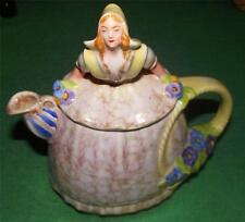 Delightful c1930 Superb Art Deco Czechoslovakia Dutch Girl Figurative Teapot