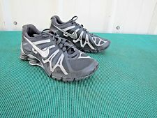 2012 Nike Shox Turbo+ 13 Metallic Silver Running Shoes Womens Size 7 525156-001