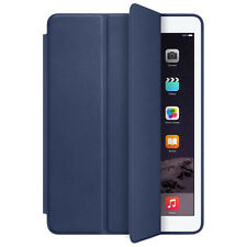 For Apple iPad Air 2 Genuine Leather Smart Case Cover Slim Wake Protector D BU C