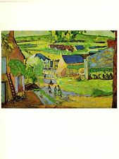 "1969 Vintage BONNARD ""SAINT HONORE LES BAINS"" COLOR offset Lithograph"