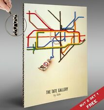 LONDON UNDERGROUND / TUBE MAP POSTER BY TATE GALLERY 30X21cm Wall Deco ART PRINT