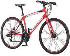 700c Men's Bike 21 Speed Hybrid Red