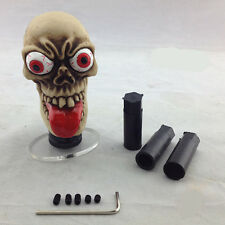 Red Long Tongue Ghost Universal Car Manual Gear Stick Shift Shifter Lever Knob