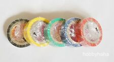 5 Rolls Multicolor Assorted  PVC Electrical Film New