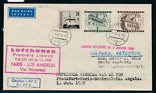 62297) LH FF Paris - Los Angeles 1.1.69, Brief ab CSSR