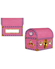Pink Princess Pirate Medium Treasure Chest Party Favor Storage Box Decoration