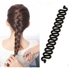 Beauty Womens Hair Twist Styling Clip Stick Bun Maker Party Braid Tools Black