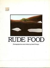 Rude Food. Photographed as never before by David Thorpe. Comida y sexo. Desnudo.
