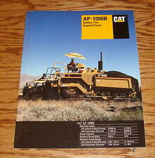1997 Caterpillar AP-1000B Rubber Tire Asphalt Paver Sales Brochure 97 Cat
