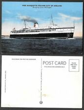 Old Ship Postcard - Pere Marquette Steamer City of Midland