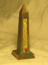 "vintage cast metal Washington D.C. souvenir thermometer 3.5"" monument reproduct"