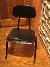 Lot Of 10 Vintage Irwin Co Old School All Metal Children's Chairs - Very Good