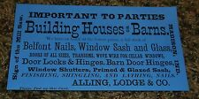 old PAPER CALLING CARD BUSINESS CARD ALLING & LODGE MADISON IN