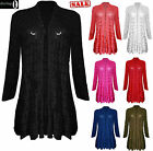 Womens Ladies Waterfall Lace Crochet Bolero Drape Long Cardigan Plus Sizes Top