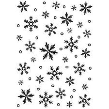 Darice Embossing Folder Snowflake Background 5 X 7 Christmas Snowflakes 1218-97