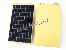 20W 2X10W Epoxy Solar Panel Solar Module With Diode 12V Battery Charger Pond