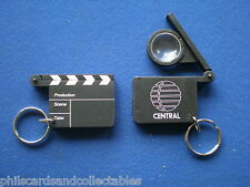 Central TV -  vintage clapperboard keyring   1980s