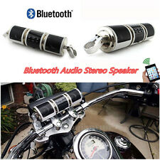 Motorcycle Audio FM Radio MP3 Bluetooth Stereo Speaker Sound System Waterproof #