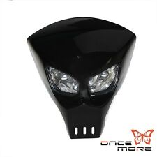 Custom Streetfighter Motorcycle Universal Vision Skull Headlight For Kawasaki