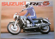 SUzuki RE 5 ROTARY PROSPEKT 1976 MOTORRAD TAKATSUKA JAPAN SAMMLER OLDTIMER