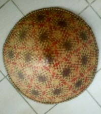 Vintage Large Original Genuine 1940s Chinese Coolie Bamboo Sun Hat Asian