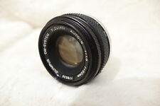 Olympus OM 50mm f1.8 Zuiko Auto S M/I Japan lens, fits OM camera mount optics ++