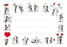 Lustige Tischkarten / Platzkarten / Namenskarten für Ihre Hochzeit, SET 1