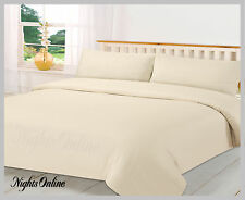 Luxury 400TC/800TC 100% Egyptian Cotton Duvet Covers All Sizes In White/Cream