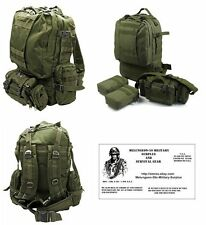 4PC O.D. Backpack Bug Out Bag Tactical / Military / Survival Gear Day Pack C-J