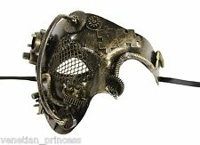 New Steampunk Style Bronze Phantom of The Opera Mens Half Masquerade Mask SPM005