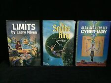 3 Sci-Fi Books: Cyber Way, A. Foster; Smoke Ring, Limits, Larry Niven (RF249)