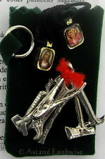 1 x 7 TOOLS TALISMAN WITH POUCH POCKET  Wicca Pagan Witch Amulet Goth FIND WORK