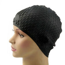 Hot Sale!Silicone Waterproof Swimming Cap - Black Free Shipping