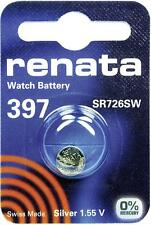 397 (SR726SW) Coin Battery Pack Renata 1.55V / for Watches Car Keys Torches