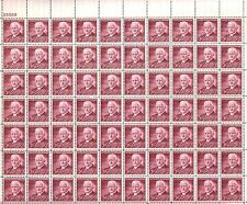 {BJ Stamps}  #1062  MNH sheet of 70 3¢ George Eastman---Inventor. Issued in 1954