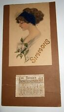 Antique Calendar Advertising Calendar 1914 Calendar Woman's Portrait Great Look