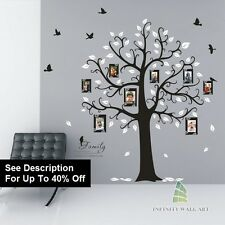 Autocollants muraux arbre oiseau family tree nursery kids fleur wall art stickers 36-D538