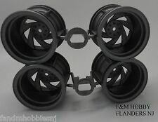 Tamiya 0445720 Wheel Rim (Set of 4) Twin Detonator Double Blaze Blackfoot Xtreme
