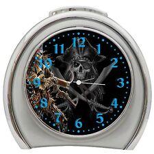 Pirate Skeleton Alarm Clock Night Light Travel Table Desk