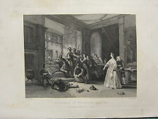 1892 PRINT ~ DEFENCE OF WARDOUR CASTLE