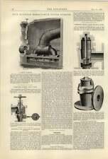 1887 30 pollici VICTOR TURBINE Cowles fusione Pasquier Valvola di sicurezza T Murphy