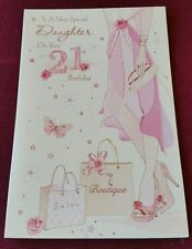 "Excellent Quality ""A Very Special Daughter On Your 21st Birthday"" Card"