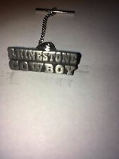 Rhinestone Cowboy  H3 Tie Pin With Chain Made From  English Modern  Pewter