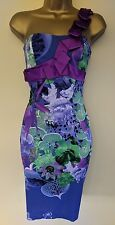 Karen Millen 8 Immaculate Orchid Floral Origami Folded Wedding Races Dress £175