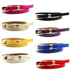 Candy Color Womens Leather Belt Bow Skinny Thin Dress Belt Waist Belt Waistband