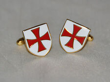Knights Templar Cross Shield Cufflinks (CF023)