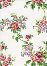 Classic Waverly Rose Floral Wallpaper Double Roll Bolts FREE SHIPPING