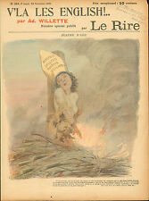 "le rire - colour print from 1899  titled "" jean d'arc """
