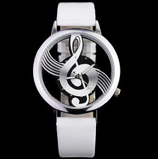 Musical Note Dial Quartz Movement Watch with PU Leather Band
