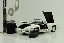 1957 Mercedes-Benz 300 SL Roadster W198 + Softtop weiss 1:18 Minichamps